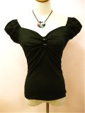 ☆Collectif☆Dolores Top Plain Black 17号