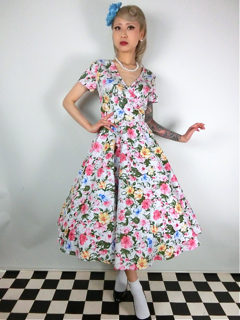 2c5521c9eaf2 ☆Collectif☆Maria Artistic Floral Swing Dress 17号 - *Sweet Cherry ...